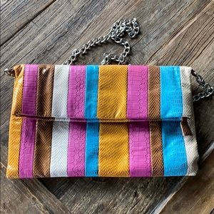 Striped Aldo clutch